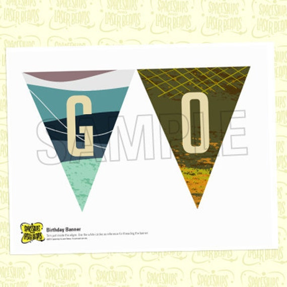 Banner from the Vintage Fishing DIY Printable Collection by Spaceships and Laser Beams