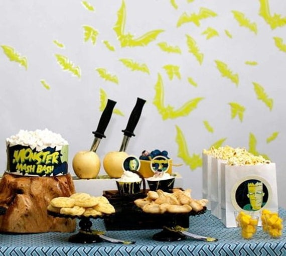 Halloween Birthday Party Kit a Classic Monster DIY Printable Collection by Spaceships and Laser Beams