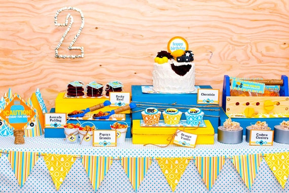 SALE: Truck Party Construction Birthday Package a DIY Printable Party Collection by Spaceships and Laser Beams