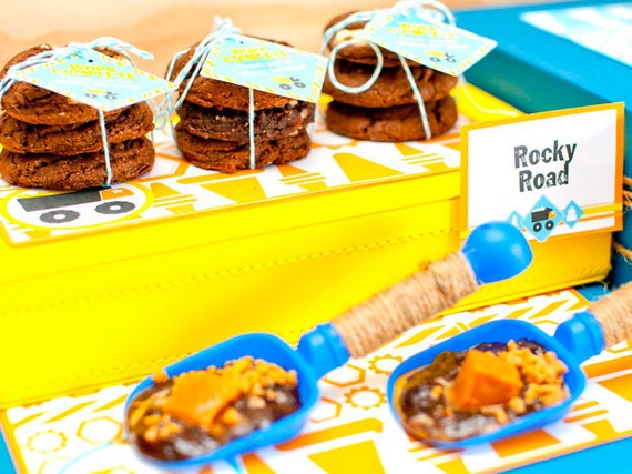 Truck Party Construction Birthday Placemats /Tray Liners from the Construction Crew DIY Printable Collection by Spaceships and Laser Beams