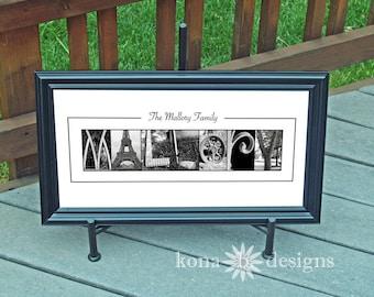 Custom Alphabet Photography Family Name print  - 10x20 Unframed