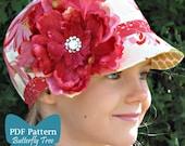 Newsboy Hat Sewing Pattern - Unisex Infant and Child Sizes - PDF