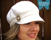 Newsboy Hat Sewing Pattern - Reversible Unisex Adult Sizes - PDF