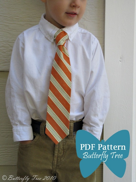 Boy's Tie Sewing Pattern - Classic and Reversible Styles - PDF