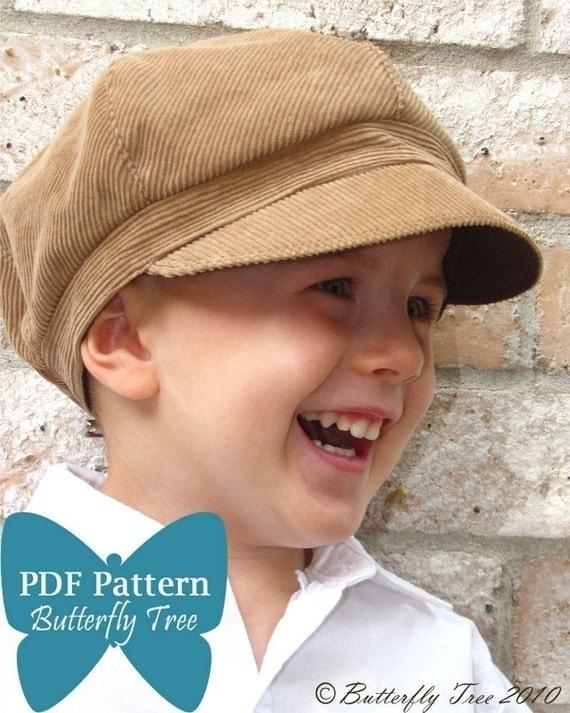 Newsboy Hat Sewing Pattern - Reversible Unisex Infant and Child Sizes - PDF