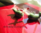 Zombie Narwhal Earrings - glow in the dark - by Narwhal Dreams on Etsy