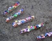 star . confetti . glitter . clothespins