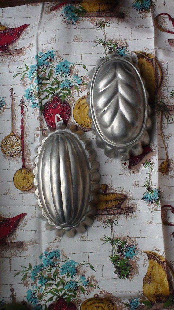 Set of 2 Aluminum Moulds for Mousse or Jelly. Made in Italy