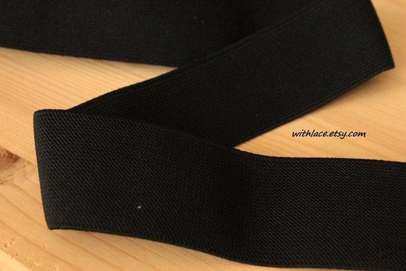1 yd black elastic band ---2''