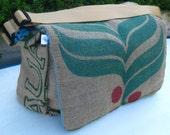 BULA Messenger Bag, Handmade from a Recycled Coffee Sack