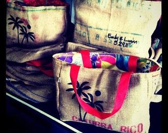 10 Semi Custom Destination Wedding Welcome Beach Tote Bags - Handmade
