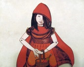 11.25 in. Red Riding Hood Paper Doll