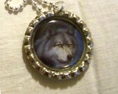 Wolf, Pendant Necklace, by Oneta