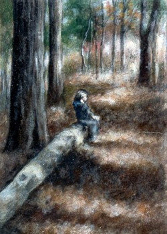 Original ACEO painting, A Winter's Rest by ONETA