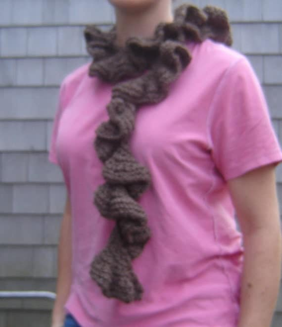 Knitted Corkscrew Scarf