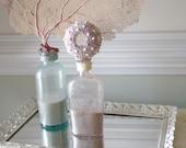 Vintage Amethyst Flask with Lavender Sputnik Sea Urchin