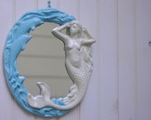 Decortative  Mermaid and Dolphin Wall Mirror