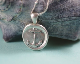 Silver Anchor Nautical Necklace - Silver Jewelry