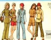 Clearance Sale. 1970's Simplicity Pattern Womens Jacket Shorts Slacks  Size 10 Bust 32.5  #9871  Uncut