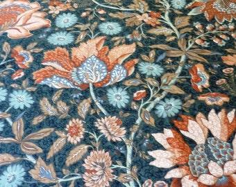 Autumn Designer Fabric  Floral  Fabric  Remnants Destash 1980's Vintage