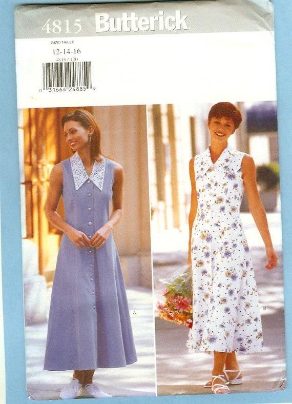 Vintage Dress Pattern Butterick 4815 Size 12 14 16 Women Bust 34 36 38
