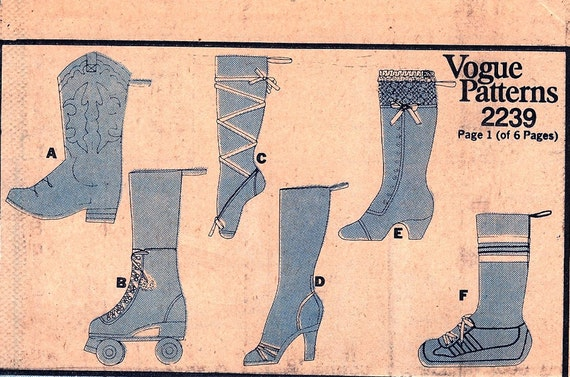 Vintage Christmas Stockings Pattern Vogue 2239