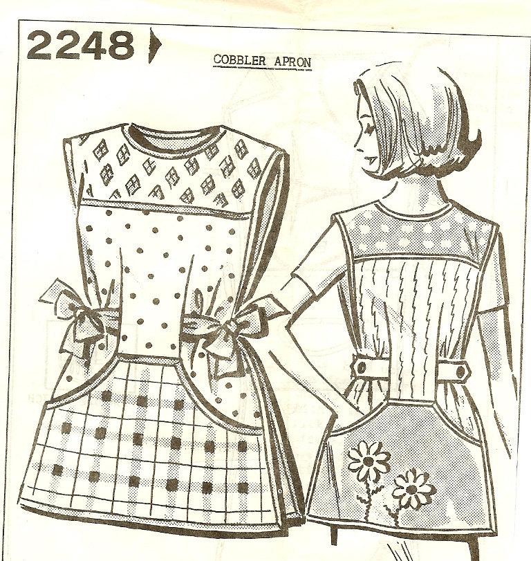 Vintage 1950s Cobbler Apron Pattern Mail Order Small Medium