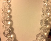 Clear Faceted Beads Necklace