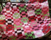 Chocolate covered cherries quilt