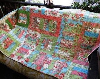 Pastel blocks quilt