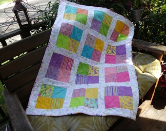 Baby girl 4 patch quilt