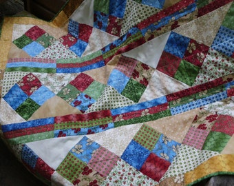 Spring diamonds quilt