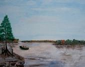 Gone Fishing Original Painting