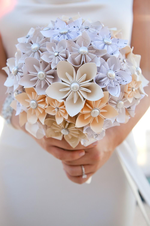 すべての折り紙 折り紙 結婚式 : Origami Paper Flower Bouquet