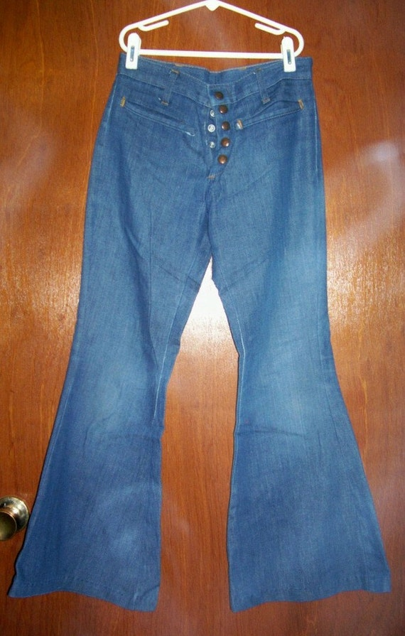 70s Flare Leg Bell Bottom Jeans JC Penney Girls LARGE/Womens XS