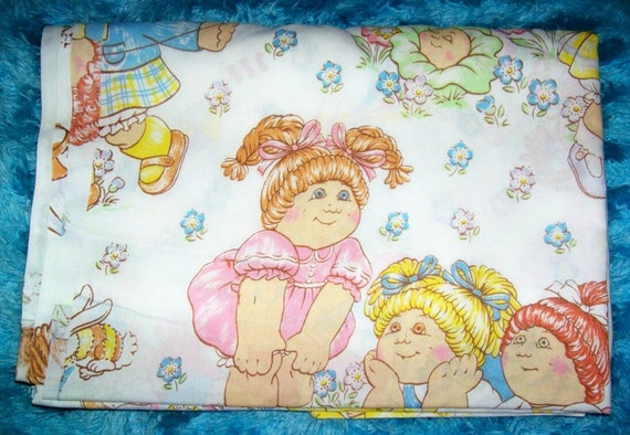 CLEARANCE 80s Cabbage Patch Kids Flat Sheet TWIN