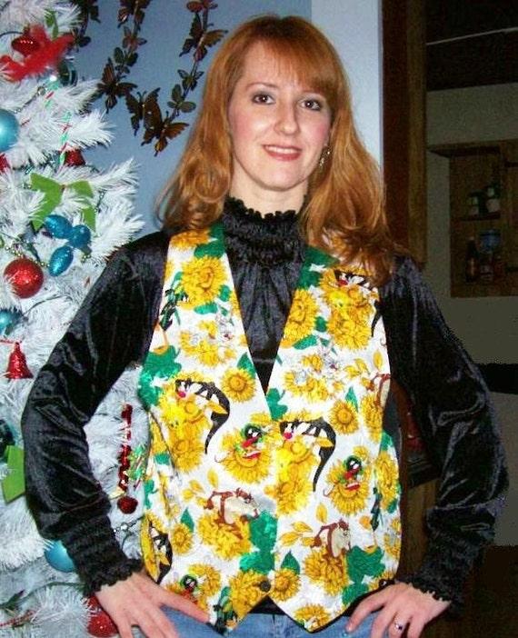 80s/90s Looney Tunes Vest SM/MED