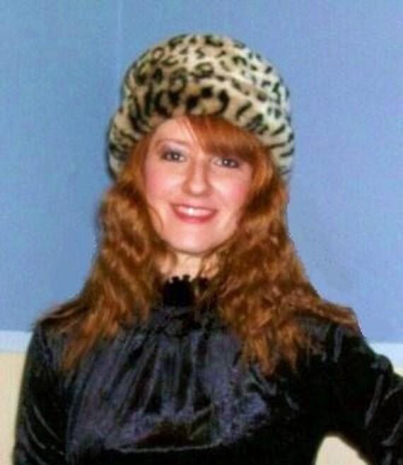 Retro Faux Fur Leopard Hat