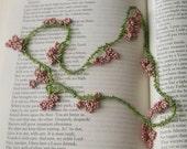 ON SALE...Spring Rose Necklace