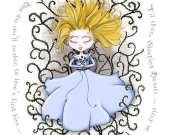 Sleeping Beauty Illustration - 5x7 Print