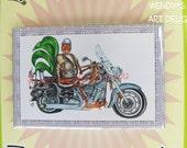 Magnet Gift for Men Motorcycle Rooster Johnny Biker
