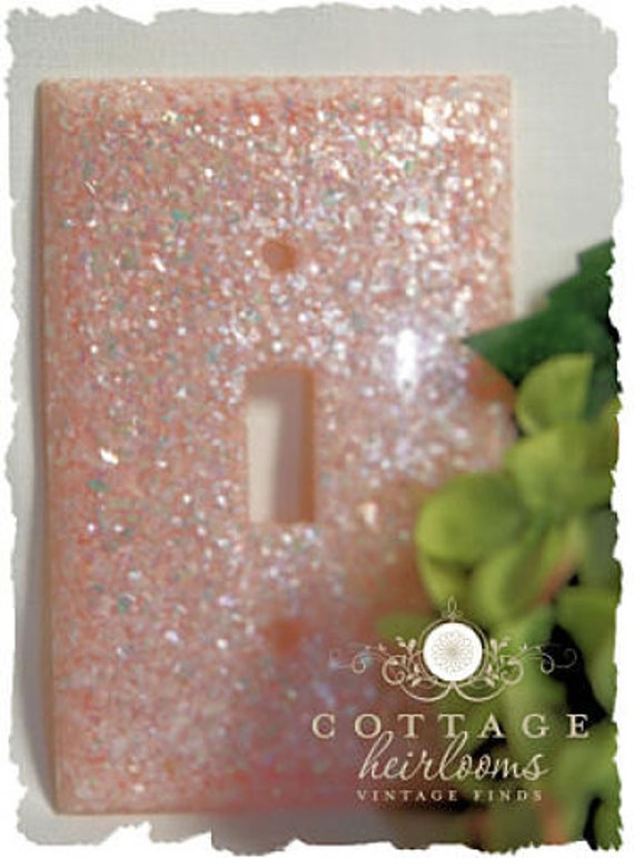 Pink Confetti Lucite Switchplate Cover - Classic Vintage