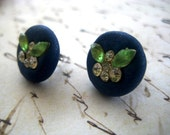 SALE - Green Pixie Crystal Earrings (Stud, Post)