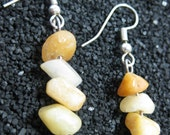 Yellow Calcite Dangle Earrings