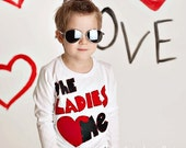 Valentines day shirt, ladies love me, valentines day baby boy, shirt, 12 month 18 month 2t 3t 4t 6t youth