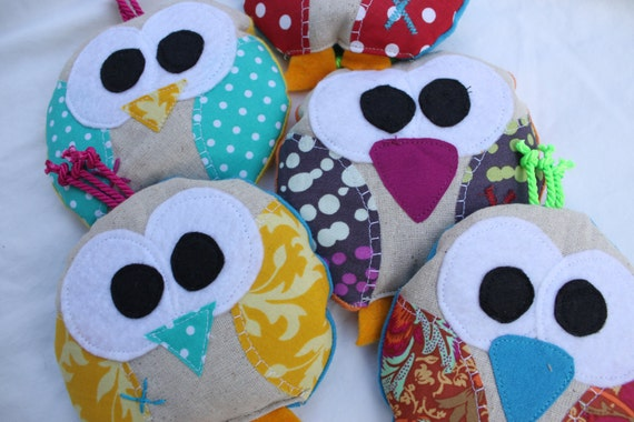 Stocking stuffer / ouchie bag / 5 and under / ice pack, Bird, bridie, owl, party favor, wholesale, cold pack, heat pack, boo bag,
