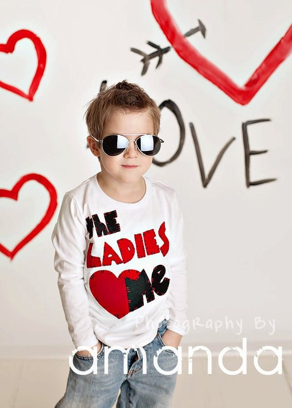 Valentines day shirt ladies love me valentines day baby boy