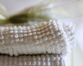 Set OF 4 Handmade White Vintage Chenille Wash Cloths