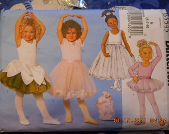 Ballerina Oufits for Little Girl's  Butterick B5545  size 6-7-8
