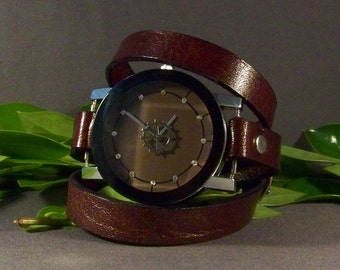 Leather Watch-Bracelet Watch-Friendship Gift-Wrist Bracelet-Women Watch-Wrap Watch-Wrap Bracelet-Wrist Watch Woman-Women Watches Vintage